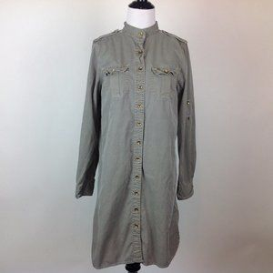 Gap Shirt Dress Womens Medium Drab Army Green